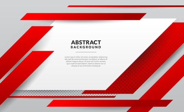 赤白モダンな抽象的な背景デザイン