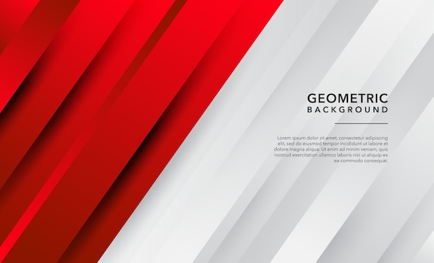 Red and white modern abstract background
