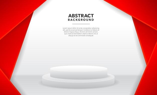 赤白モダンな抽象的な製品の背景デザイン