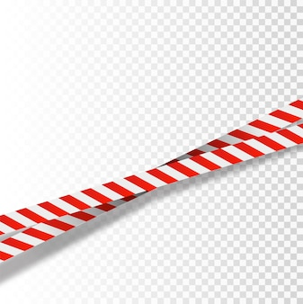 Red and white stripes set warning tapes danger signs caution barricade tape do not cross police scen...