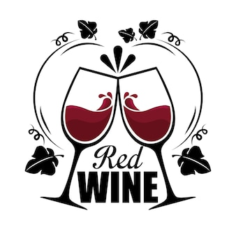 Red wine cups label
