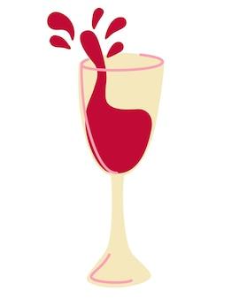 Red wine splash. wine on the glass. perfect for wine list. wine tasting.