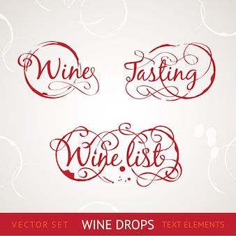 Red wine text.