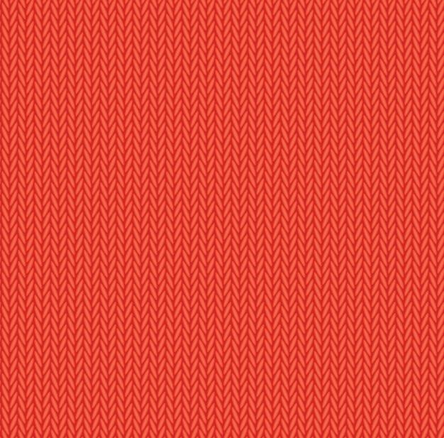赤いウールニットテクスチャのシームレスパターン