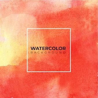 テクスチャ背景の赤黄色の抽象的な水彩画の背景