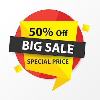 Red, yellow and black sale banner template