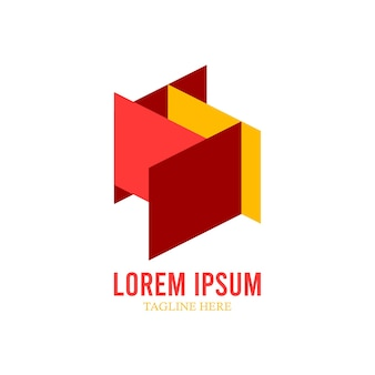 Red yellow company logo template