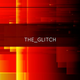 Red and yellow glitch background
