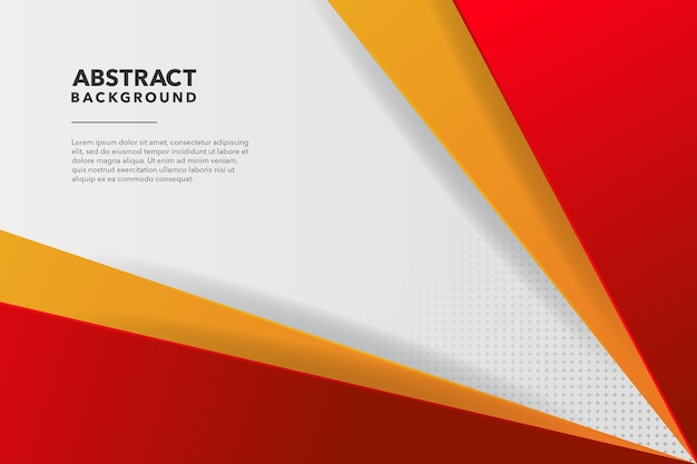 Red and yellow modern abstract background