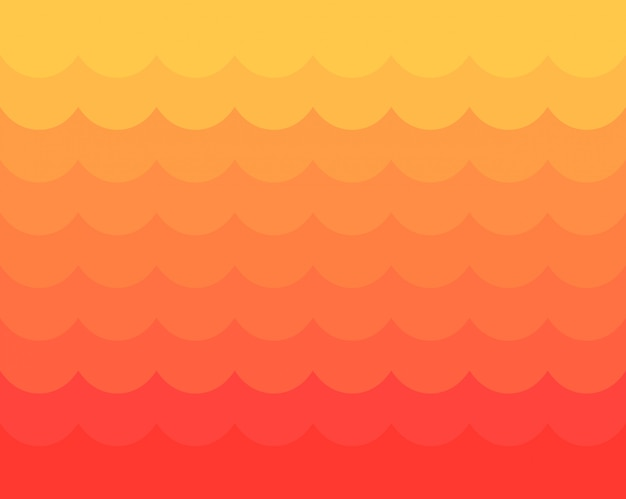 Red and yellow waves