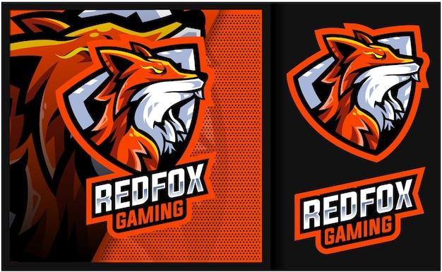 Логотип талисмана redfox mystic gaming