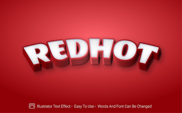 Redhot -  editable text effect style