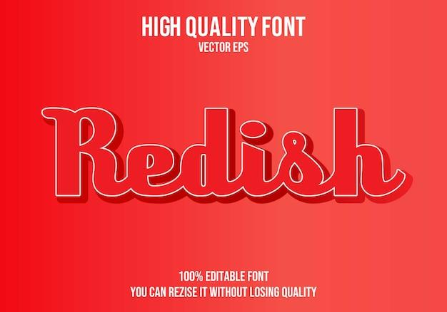 Эффект шрифта redish text