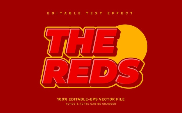 The reds text effect