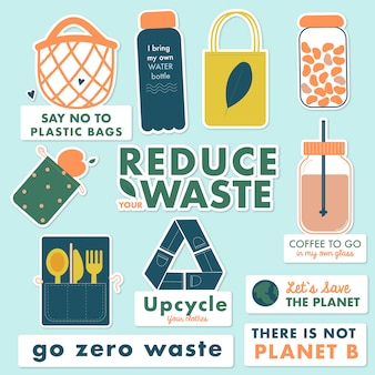 Reduce your waste stickers