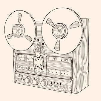 Reel-to-reel tape recorder.