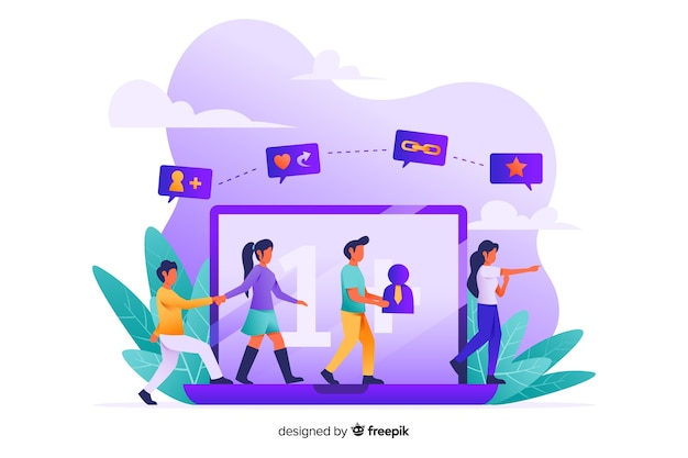 Refer a friend concept for web page
