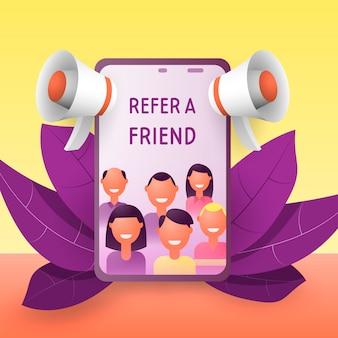 Refer a friend concept.