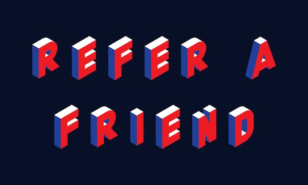 'refer a friend' isometric concept illustration