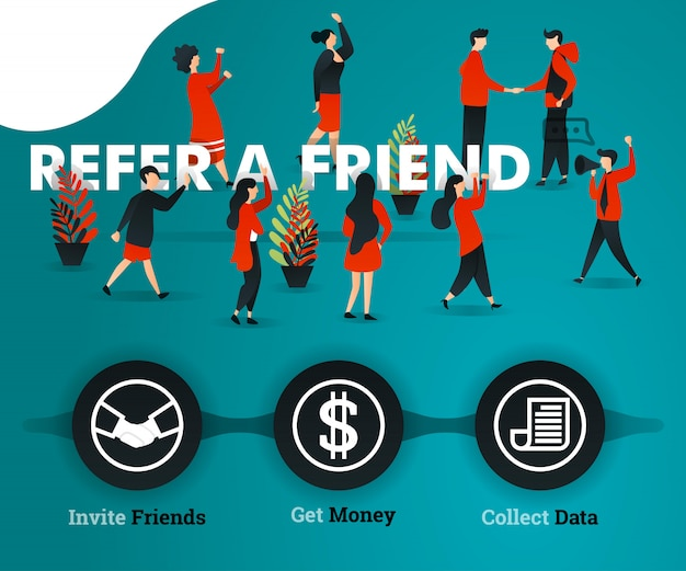 Refer a friend landing page green concept