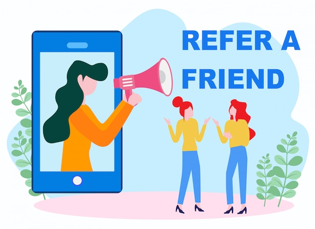 Refer a friend vector illustration concept