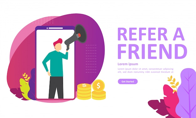 Refer a friend vector illustration