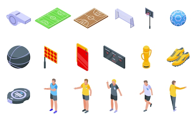 Referee icons set