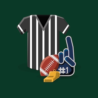 Referee jersey and american football related icons