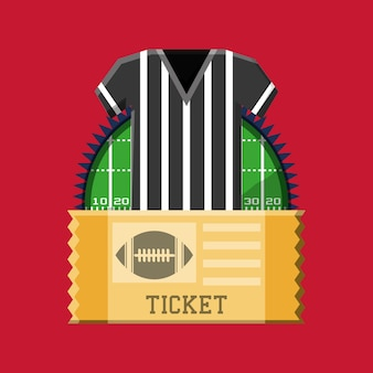 Referee jersey and american football ticket