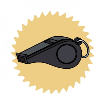 Referee whistle icon
