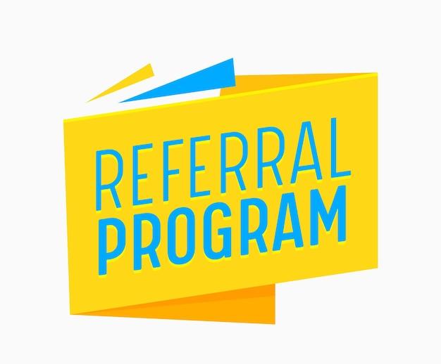 비즈니스 또는 소셜 미디어 광고 캠페인을 위한 추천 프로그램 배너. 친구 마케팅 광고 프로모션 추천