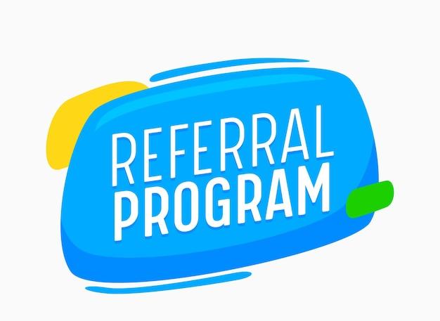소셜 미디어 마케팅을 위한 추천 프로그램 배너, 친구 광고 캠페인을 추천합니다. 고객에게 제안 광고