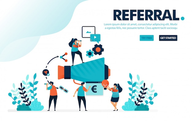 Referral program, join referral programs for marketing and promotion.
