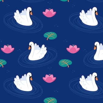 Изысканный узор лебедя