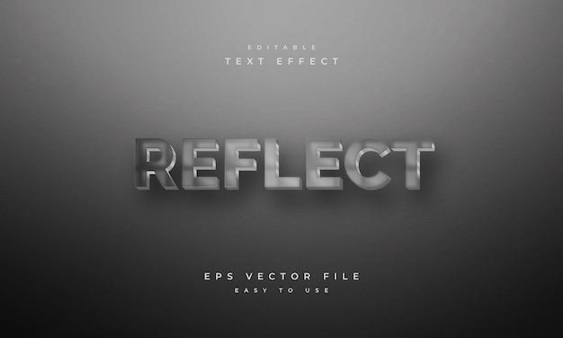 Reflect editable 3d text effect