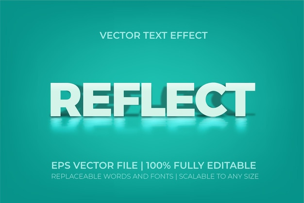 Reflect premium  style text effect