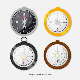 Reflective compass pack