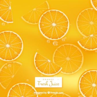 Sfondo rinfrescante di succo d'arancia