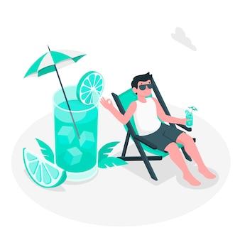 Refreshing concept illustration