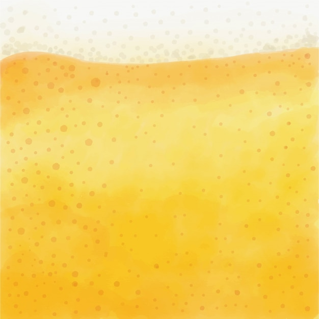Refreshing and frothy beer watercolor