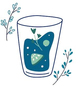 Refreshing green smoothie vegetarian detox healthy drink concept for healthy food menu bar