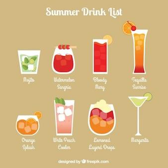 Refreshing summer drink list