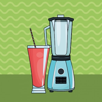 Refreshment fruit juice and blender
