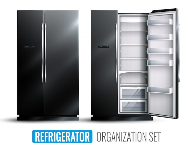 Refrigerator organization set