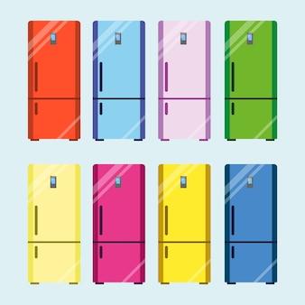 냉장 보관을위한 냉장고, 음식을 보관하고 신선하게 마실 수있는 기기.