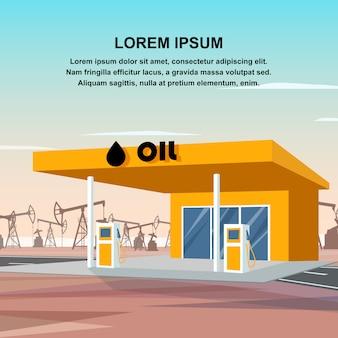 고품질 석유 제품을 사용한 급유 차량.