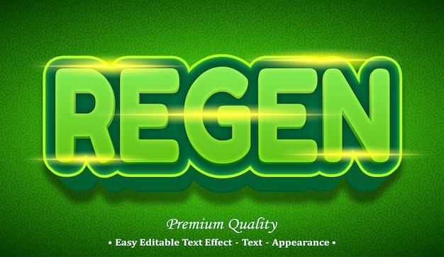 Regen 3d editable text style effect