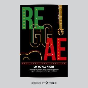Volantino festa reggae