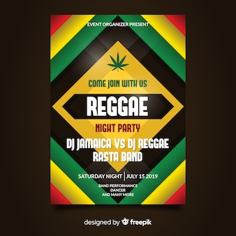 Reggae party night flyer