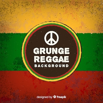 Reggae-style background with peace sign